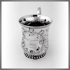 Mug Cup Coin Silver Ball Black and Co 1852