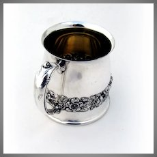 Baby Cup Ornate Roses Silverplate Pairpoint Mfg 1890-1920