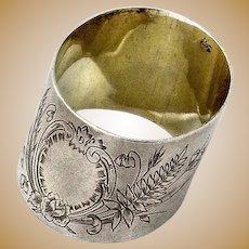 Russian Napkin Ring 84 Standard Silver