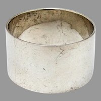 English Plain Design Napkin Ring Sterling Silver 1918 Birmingham