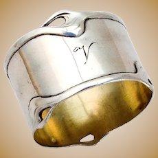 German 800 Silver Napkin Ring Vereinigte Silberwarenfabriken 1900s