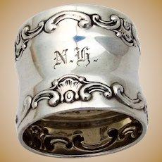 Gorham Strasbourg Napkin Ring Sterling Silver Old Style Mark