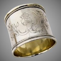 Russian 84 Silver Heavy Engraved Napkin Ring 1910 Mono