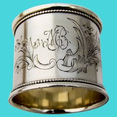 Engraved Russian 84 Silver Napkin Ring 1910 Mono