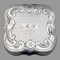 19th Century Dutch Silver Engraved Peppermint Box Mono