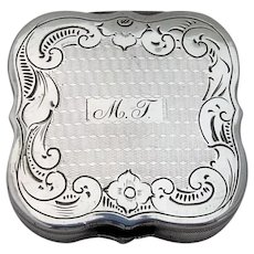 19th Century Dutch Silver Engraved Peppermint Box Mono