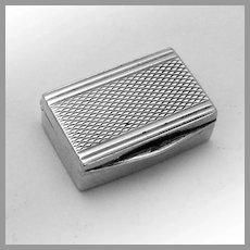 Vintage Tiny Rectangular Box 835 Silver