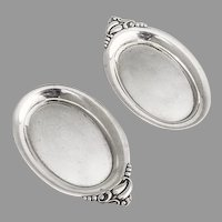 Webster Butter Pats Pair Sterling Silver 1940