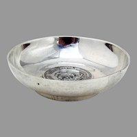 Alfredo Ortega Coin Bowl Dish Sterling Silver Mexico