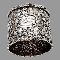 Stieff Rose Napkin Ring Sterling Silver 1910 HLW