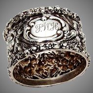 Stieff Rose Napkin Ring Sterling Silver 1919 FWH