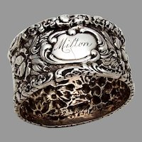 Stieff Rose Small Napkin Ring Sterling Silver 1910s Milton