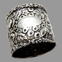 Stieff Rose Wide Napkin Ring Sterling Silver No Monogram