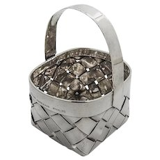 Cartier Hand Made Braided Basket Sterling Silver