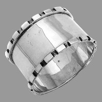 English Sterling Silver Napkin Ring Cut Out Design