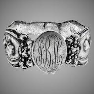 He Loves Me Napkin Ring Unger Bros Sterling Silver Mono