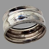 Small Napkin Ring Milled Rims Coin Silver 1860
