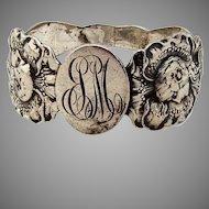 Dawn Napkin Ring Unger Bros Sterling Silver 1905 Mono