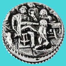 Scandinavian Happy Village People Pill Box 830 Silver