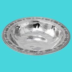 Louis XIV Serving Bowl Towle Sterling Silver Pat 1919