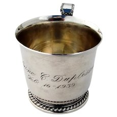 Hawthorne Baby Cup Mug Reed Barton Sterling Silver 1934