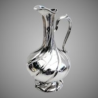 Fluted Wine Pitcher Ewer Ivan Gubkin Russian 84 Silver 1856 Mono