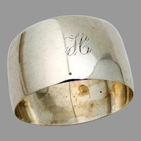 English Sterling Silver Napkin Ring William Sparrow 1903 Mono