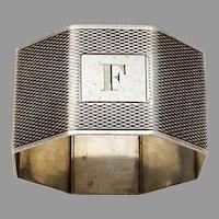 Engine Turned Octagonal Napkin Ring William Neale 1937 Birmingham
