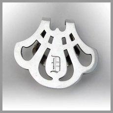 Watson Cutwork Napkin Clip Sterling Silver Mono