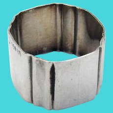 German 835 Silver Small Luncheon Napkin Ring Mono