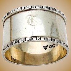 English Napkin Ring Garrard Co Ltd Sterling Silver 1962 Sheffield Mono