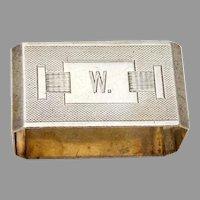Engine Turned Napkin Ring Wilcox Sterling Silver 1933 Birmingham