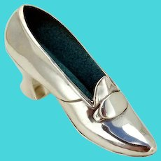 Gorham Figural Shoe Pin Cushion Sterling Silver 1900
