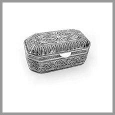Hand Made Filigree Openwork Box Sterling Silver