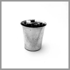 Kirk Shot Cup Number 254 Sterling Silver Mono