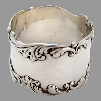 Scroll Border Napkin Ring Frank Whiting Sterling Silver 1890