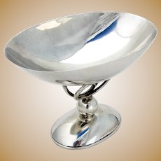 Arts And Crafts Footed Bowl Sciarrotta Sterling Silver 1960
