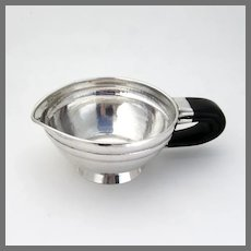 Arts And Crafts Sauce Boat Horn Handle Austrian 900 Silver