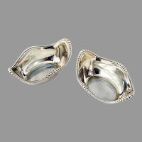 Gorham Beaded Nut Cups Pair Sterling Silver Mono
