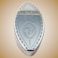 Irish Engraved Snuff Box James Keating Sterling Silver 1815