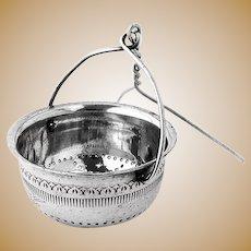 Engraved US Navy Tea Strainer Basket Silver Plated