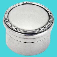 English Ribbon Thread Small Dresser Jar Mappin Webb Sterling 1911