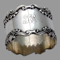 Shell Scroll Napkin Ring Mauser Sterling Silver 1900 Mono