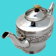 Danish Art Nouveau Teapot Carl Cohr 830 Standard Silver 1910