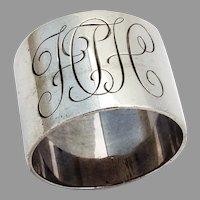 English Heavy Plain Napkin Ring Hancock Sterling 1965 Mono