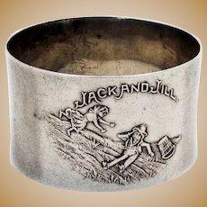 Nursery Rhyme Napkin Ring Sterling Silver 1920