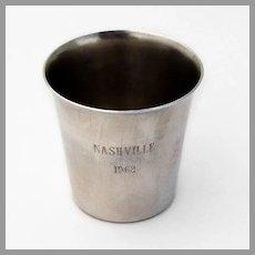 Nashville Shot Cup International Sterling Silver 1960s