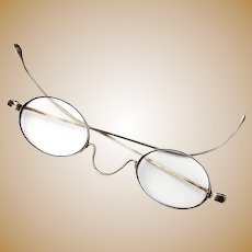 Coin Silver Spectacles Eyeglasses 1870