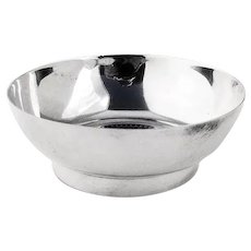 Mexican Coin Centerpiece Condiment Bowl Sterling Silver