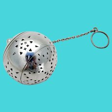 Large Tea Ball Silver Plated